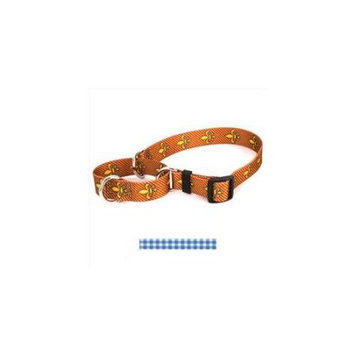 Yellow Dog Design M-GNB103L Gingham Blue Martingale Collar - Large