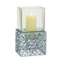 Uma Metal Glass Candle Holder 7w, 13h