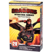 DreamWorks Dragons Antibacterial Bandages, 20 count