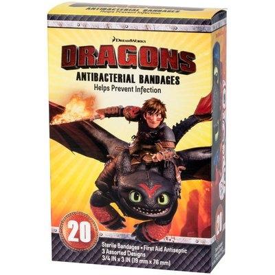 DreamWorks Dragons Antibacterial Bandages, 20 count