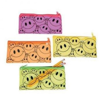 Oriental Trading Company Smile Face Pencil Cases