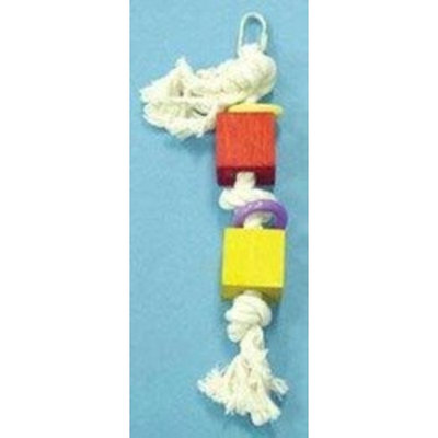 North American Pet BBO22346 Rope with Black Rings Bob Toy for Pets, 19-Inch