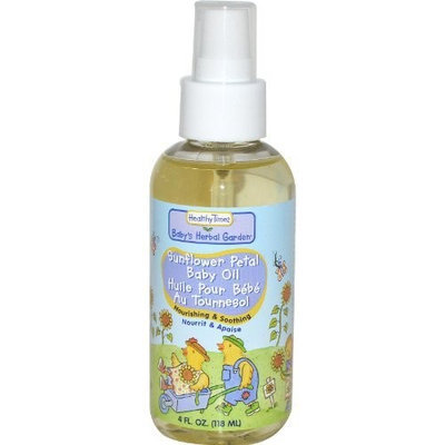 Healthy Times Baby Oil Sunflower Petal - 4 Oz