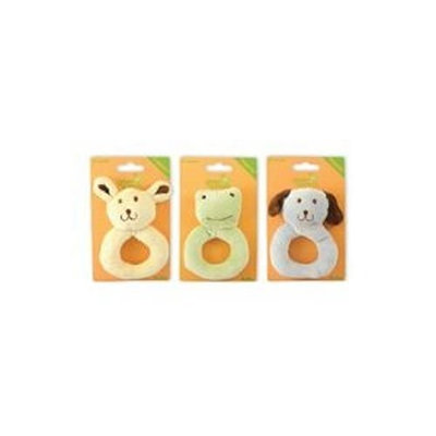 GREEN SPROUTS RATTLE,CTN VELOUR RING EACH 1-EA