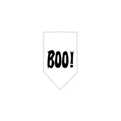 Ahi Boo! Screen Print Bandana White Small