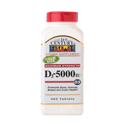 21st Century Vitamin D3 5000 IU