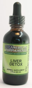 Liver Detox No Chinese Ingredients American Supplements 2 oz Liquid