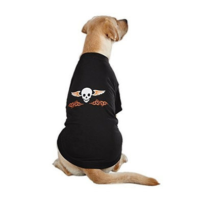 Casual Canine Polyester and Cotton Ruff N' Tuff Dog Tee, X-Small, 10-Inch, Black