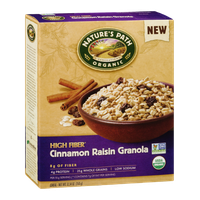 Nature's Path Organic High Fiber Cinnamon Raisin Granola Cereal