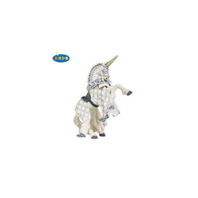 Papo 39916 Knight Unicorn Silver Horse