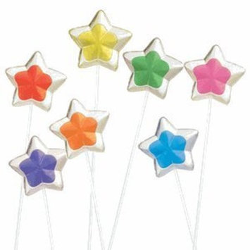 Candy Crate 2-Tone Star Twinkle Pops Assorted 7 Flavors (Pack of 120)