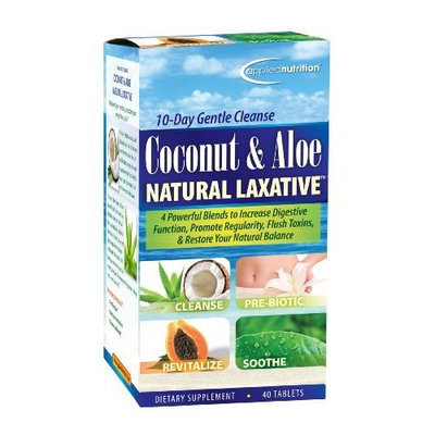 Applied Nutrition Coconut and Aloe Natural Laxative, 40-Count