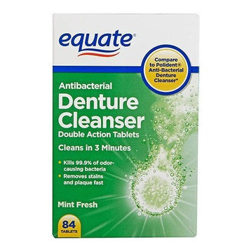 Equate Antibacterial Denture Cleanser TWO-PACK 168 Tabs Compare to Polident