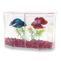 Top Fin Dual Betta Hex Aquarium Kit