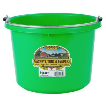 Miller Mfg Miller Manufacturing P8LIMEGREEN Plastic Round Back Bucket for Horses, 8-Quart, Lime Green