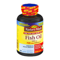 Nature Made Fish Oil 1200mg Dietary Supplement Liquid Softgels - 120 CT
