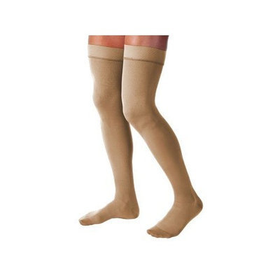 Jobst Relief Thigh High With Silicone Band 15-20mmHg Closed Toe, L, Black