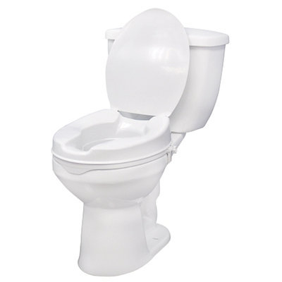 Drive Medical 12067 Raised Toilet Seat with Side Clam 6 Inch