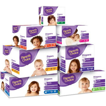 Parents Choice Parent's Choice Diapers, Jr Club Box, (Choose Your Size)