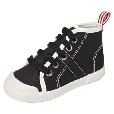 Toddler Boy's United Shoes of America Wally Sneakers - Jet Black 5