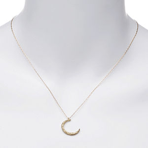 Yayoi Forest Jewelry Gold Crescent Necklace