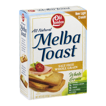 Old London Melba Toast Whole Grain Salt Free