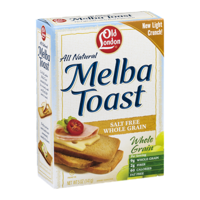 Old London Melba Toast Whole Grain Salt Free