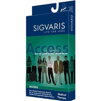 Sigvaris 970 Access Series 20-30 mmHg Unisex Open Toe Knee High Sock Size: Small Long (SL)