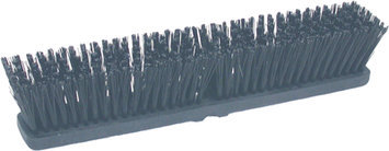 Birdwell Cleaning Products Hard Poly Push Broom Head Black 18 Inch