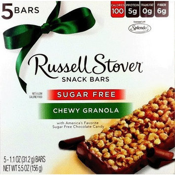 Russell Stover Sugar Free Chewy Granola Snack Bars (Formerly Called Cereal Bars) (5 Per Box)