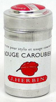Exaclair Pk/6 J. Herbin Fountain Pen Ink Cartridges, Rouge Caroubier