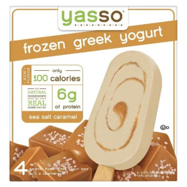 Yasso Frozen Greek Yogurt Sea Salt Caramel 4 ct