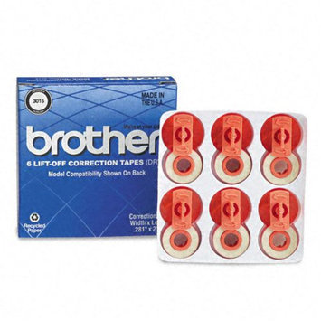 Brother International Corp. Lift Off Correction Tape, Yields 1500, 6/PK