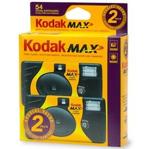 Kodak Max Flash One Time Use Cameras Special Value 2-Pack