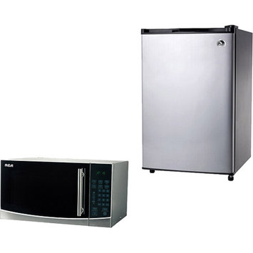 Igloo 4.6 cu. ft. Refrigerator and Freezer with Bonus RCA 1.1-cu ft Microwave Value Bundle