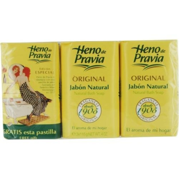Heno De Pravia 226288 Set-Set Of 2 Soaps Plus 1 Free And Each Is 4-ounce