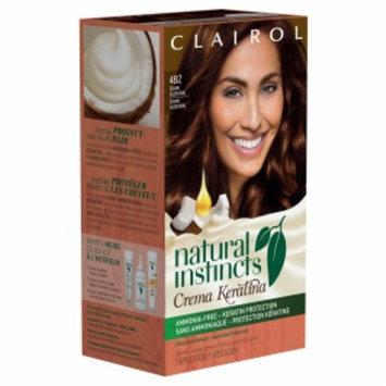 Clairol Natural Instincts Crema Keratina Hair Color, 4BZ Dark Auburn, 1 set