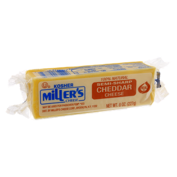 Miller's Cheese Semi-Sharp Cheddar Cheese