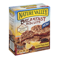 Nature Valley Breakfast Biscuits Lemon Poppy Seed Pouches - 5 CT