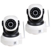 VideoSecu 2x Baby Monitor Wireless Pan Tilt Remote IR Day Night IP Security Camera for iPhone, iPad, PC, Smartphone bky