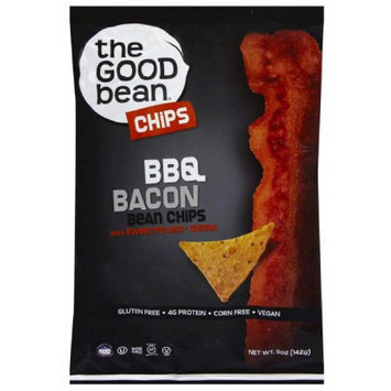 The Good Bean BBQ Bacon Bean Chips, 5 oz, (Pack of 12)