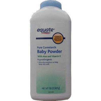 Equate Aloe Vera & Vitamin E Baby Powder, 15 oz