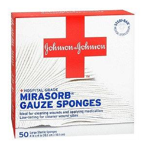 Johnson & Johnson Mirasorb Sterile Gauze Sponges