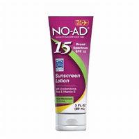NO-AD Sunscreen Lotion, Travel Size, SPF 15, 3 fl oz