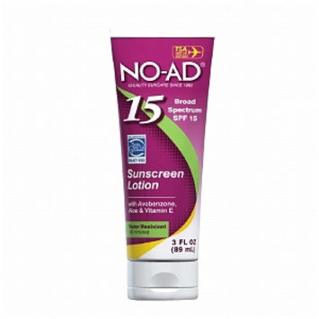 NO-AD Sunscreen Lotion, Travel Size, SPF 15, 3 fl oz