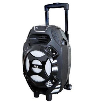 QFX Portable Tailgate Speaker-Silver