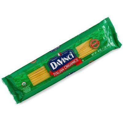 DaVinci Pasta Organic, Spaghetti, 16-Ounce Bags (Pack of 20)