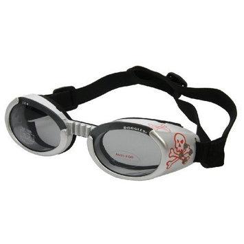Doggles ILS Dog Goggle sunglasses with Skull and Crossbones / Smoke Lens Medium