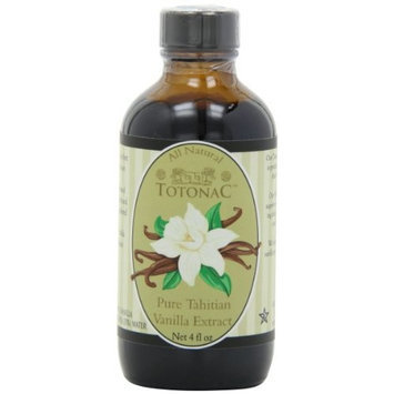 Totonac Pure Tahitian Vanilla Extract, 4-Ounce Containers (Pack of 3)