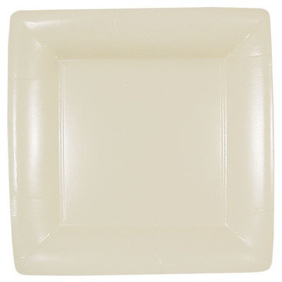 King Zak Ind Lillian Tablesettings 25715 Cream Solid 10 in. Square Plate - 576 Per Case